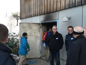 Eine Stückholzheizung versorgt die Häuser des Heims Hof Oberdorf mit Wärme.
