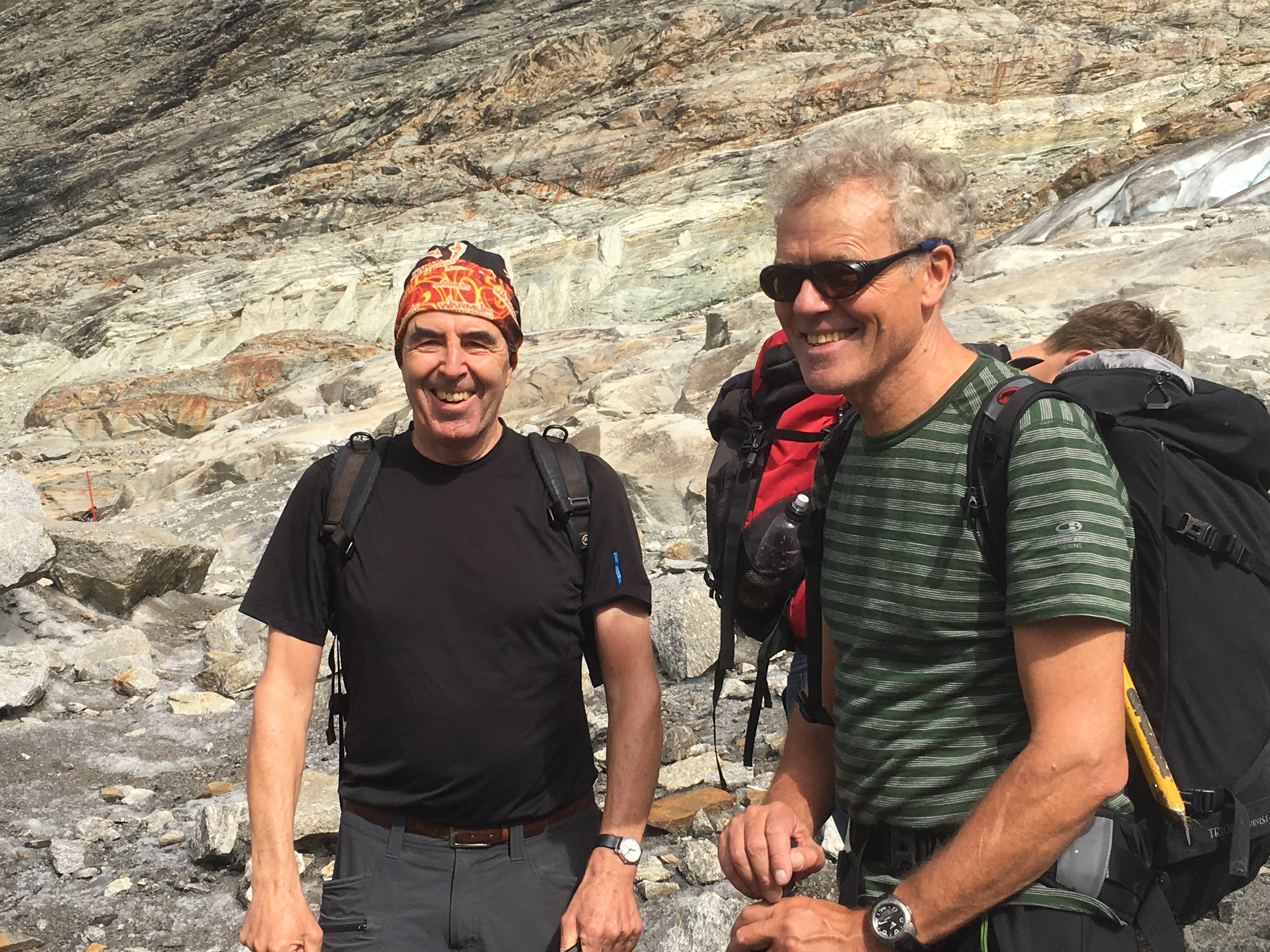 Glaziologe Ueli Spring und Bergführer Bruno Rankwiler