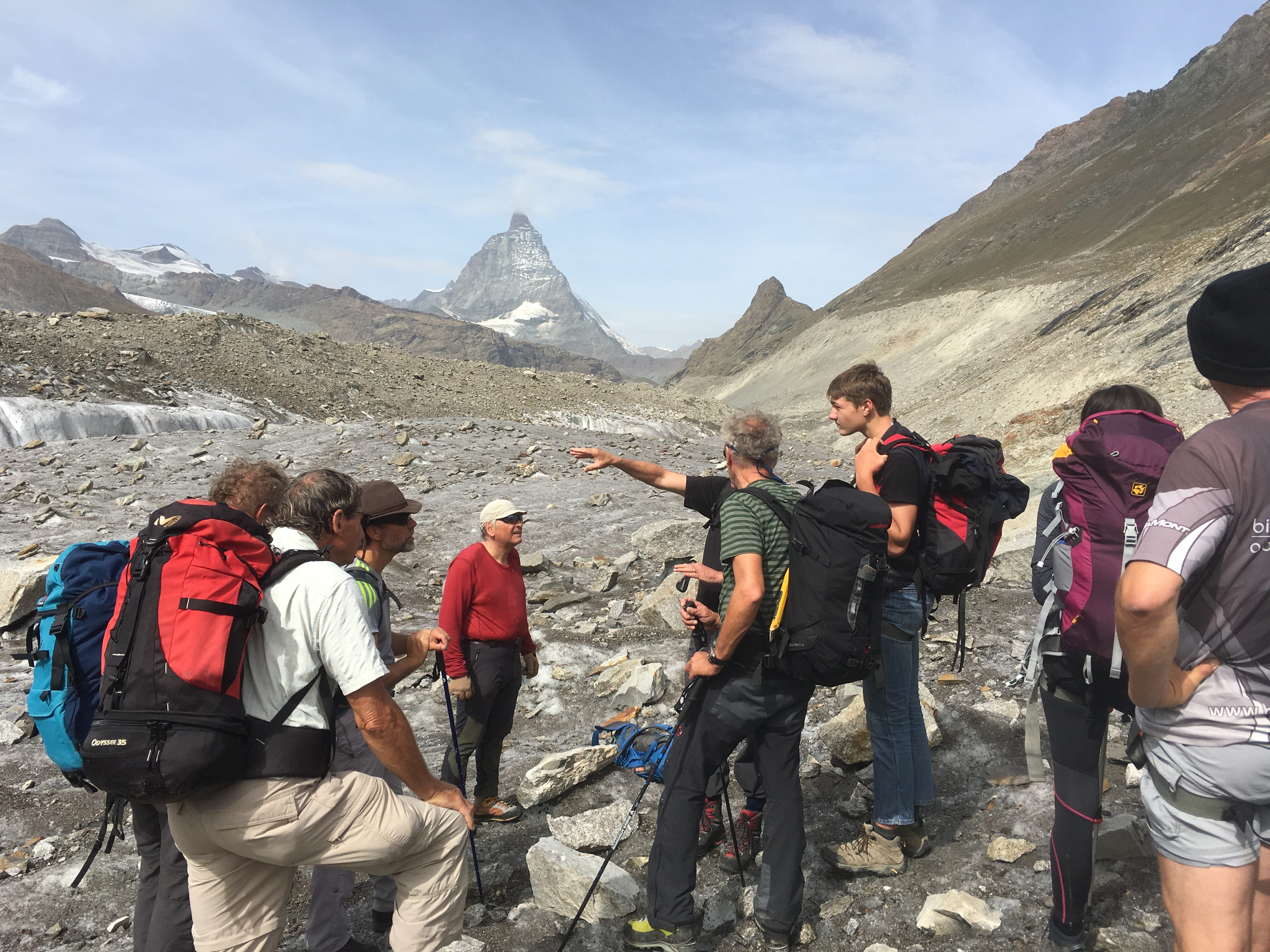 Erklärungen zur früheren Ausdehnung des Gletschers